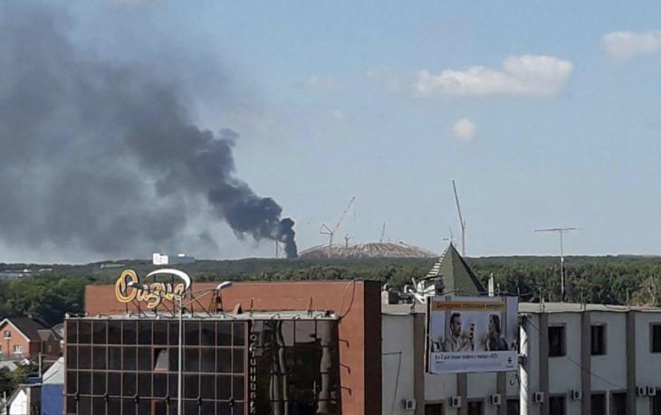 Samara Arena în flăcări