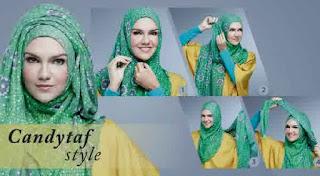 cara memakai jilbab pesta pernikahan