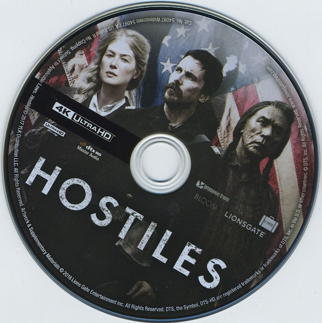 Hostiles 4K Bluray Label