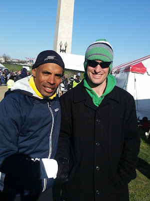 Joseph P. Fisher with Meb Keflezighi