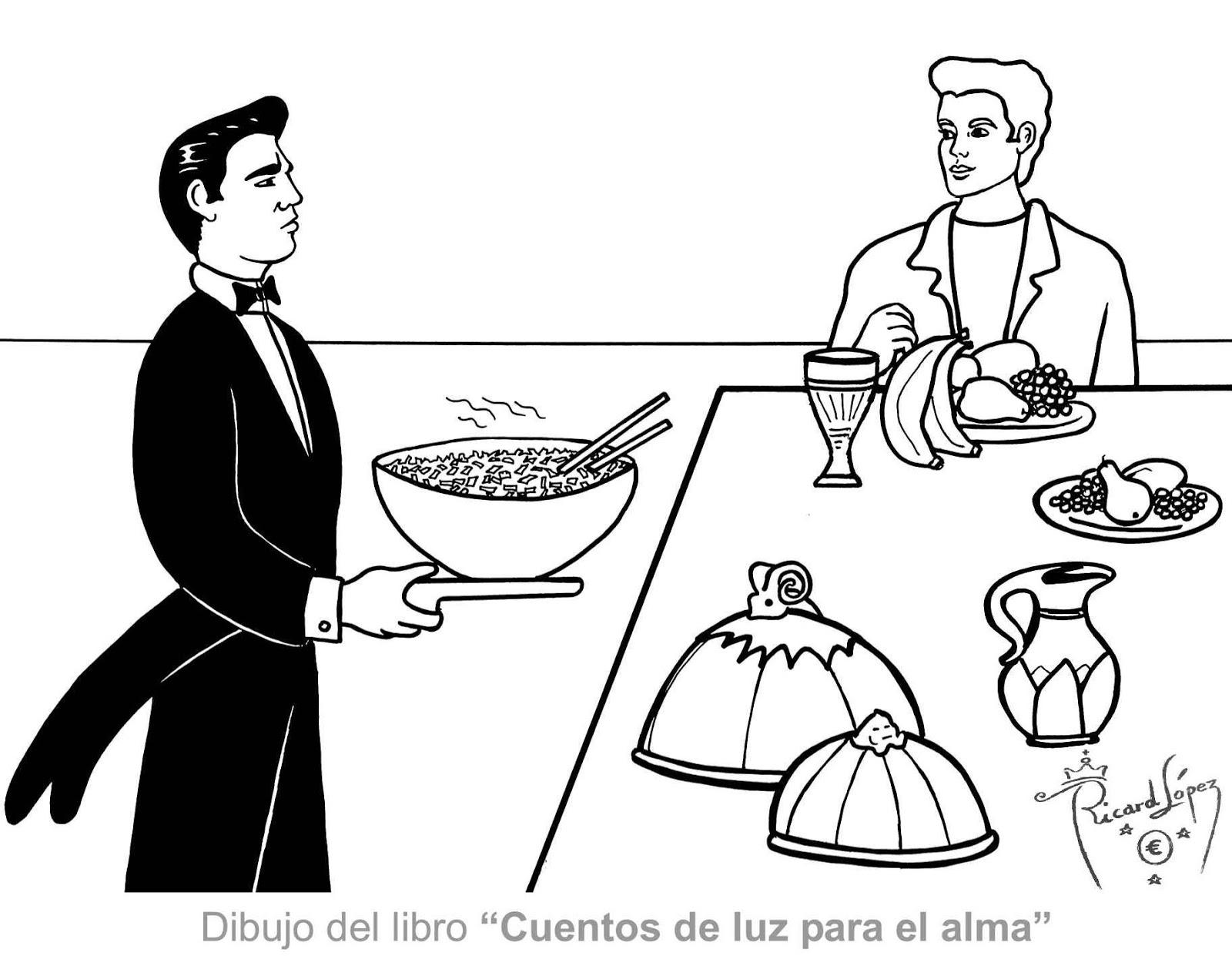 Restaurante Para Colorear Dibujos Para Colorear