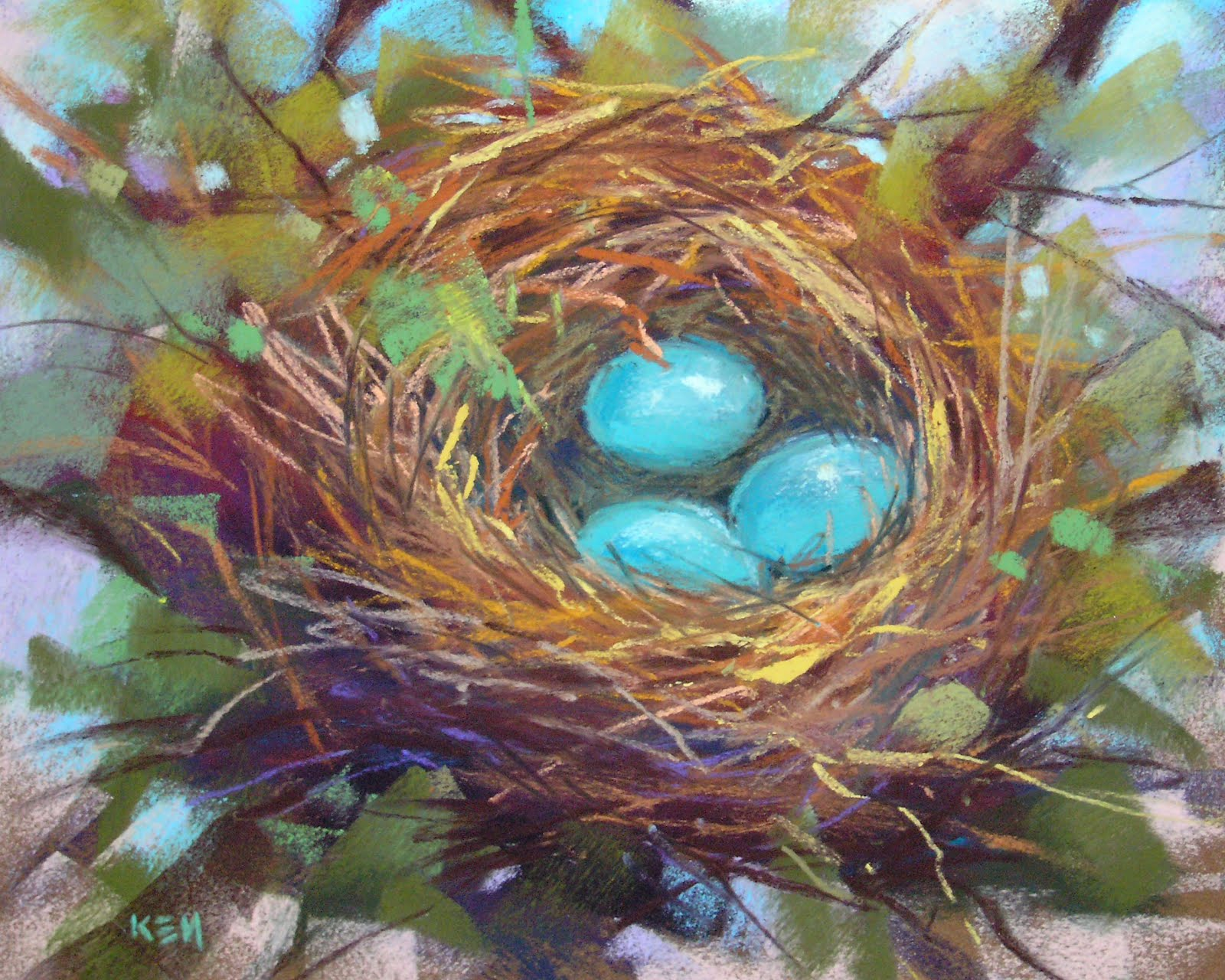 Bird Nest Paintings