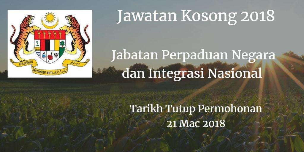 Jawatan Kosong JPNIN 21 Mac 2018