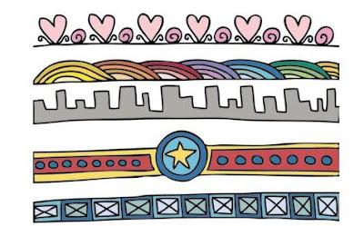contoh garis batas doodle art