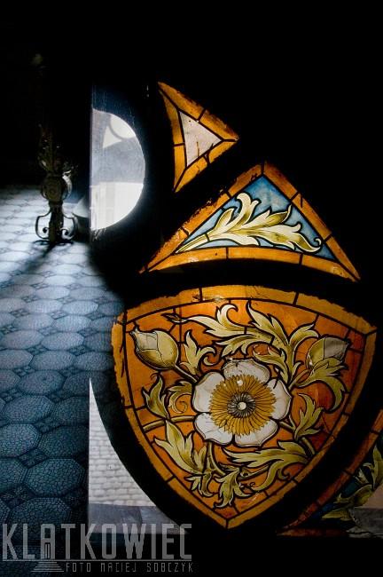 Łódź: witraż na szkle malowany