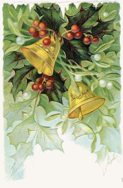Image ancienne pour Noël, cloches