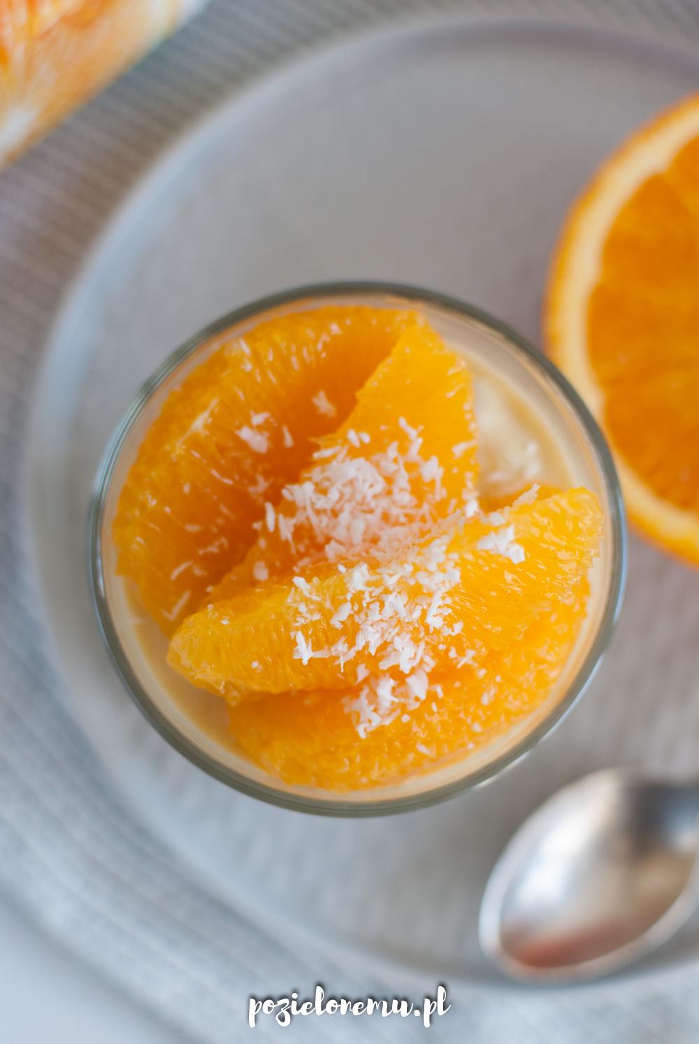 Pomarańczowo-kokosowy pudding z tapioki