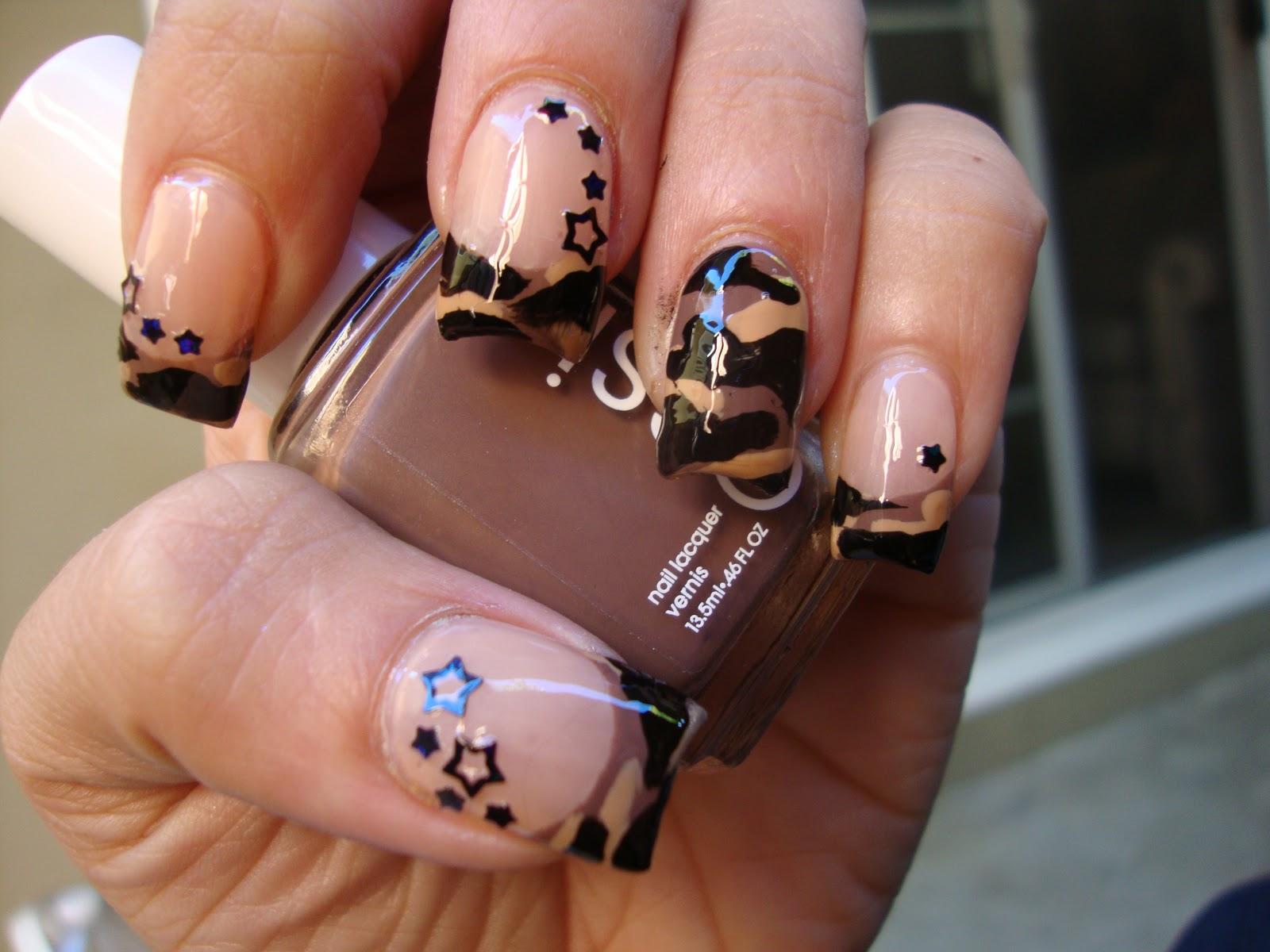 Digital Camo Nails Camo Nails
