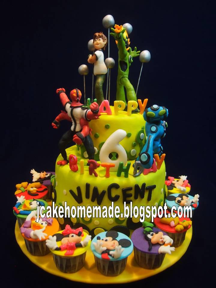 Jcakehomemade Ben Ten Ultimate Alien Birthday Cake