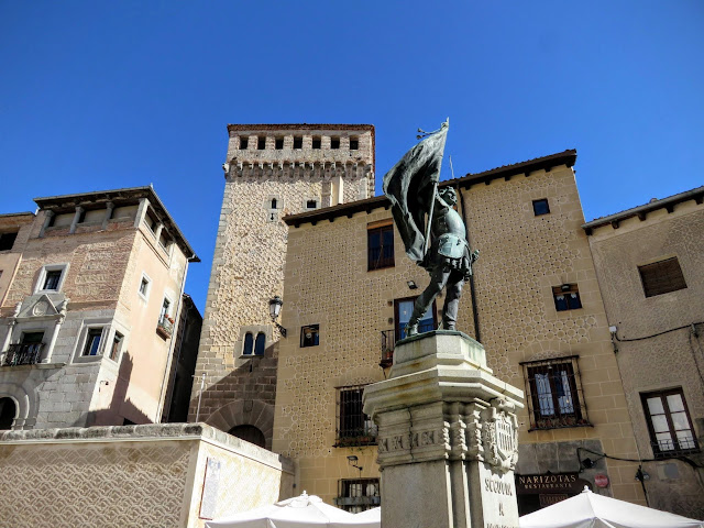 Statue of Juan Bravo in Segovia, Spain