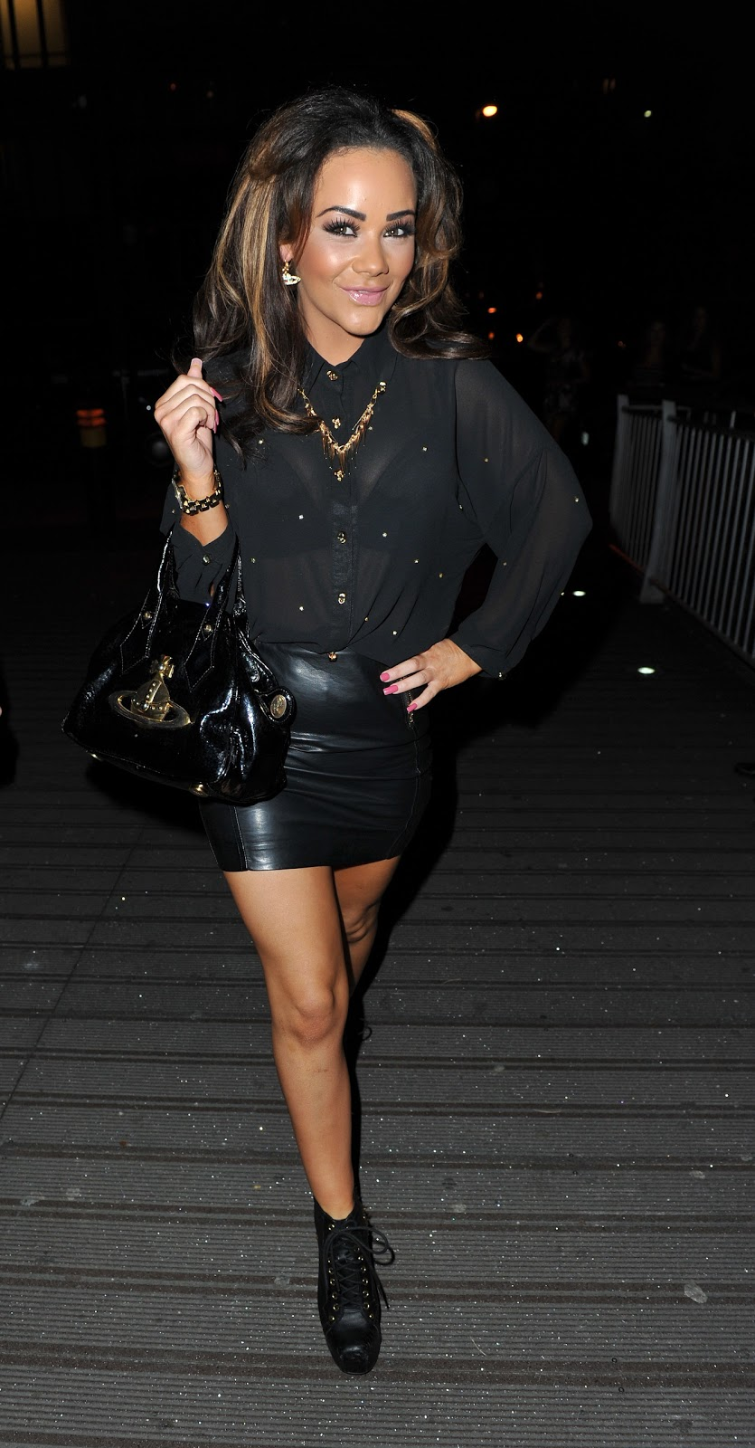 Tight Leather Mini Skirt 86
