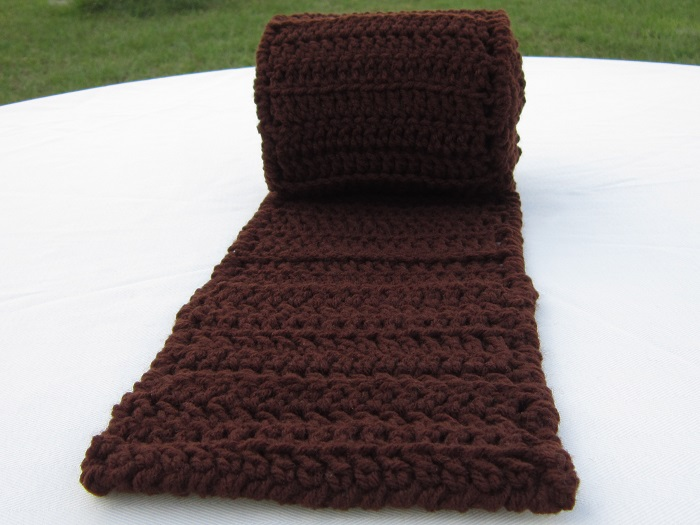 free pattern, crochet, scarf, pocket, double crochet, easy, beginner