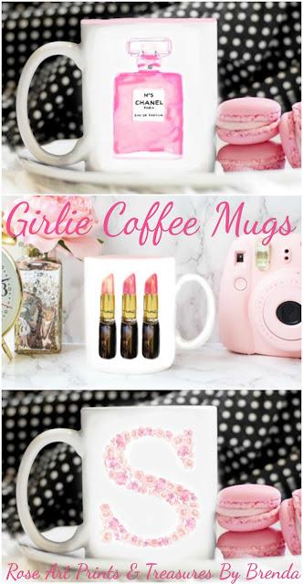 Girlie Coffee Mugs from Rose Art Prints