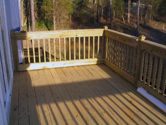 Wooden Patio Deck Picture