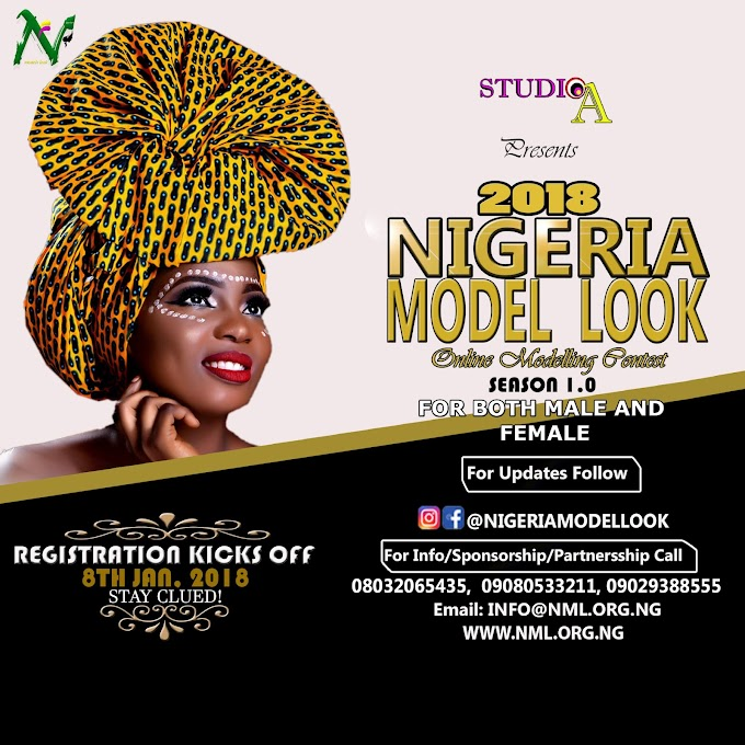 Nigeria Model Look 2018 registration come the 8th jan 2018