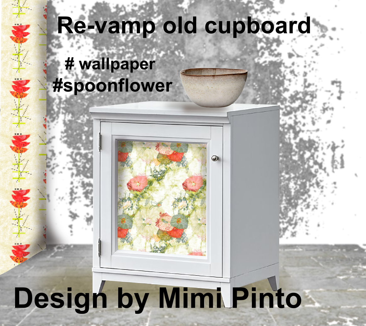Wallpaper and textile available from spoonflower How to renovate old furniture