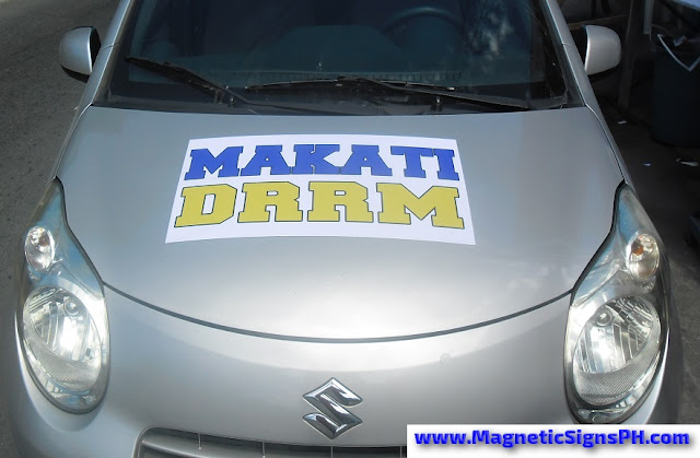 Car Magnetic Sticker - Disaster Risk Reduction Management Makati (DRRM)
