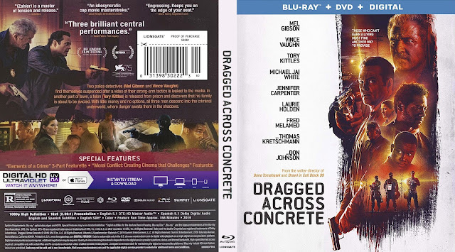 Dragged Across Concrete Bluray Cover