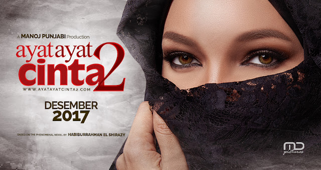 Poster Ayat-Ayat Cinta 2, filem Indonesia, base on novel karya Habbiburrahman El-Shirazy