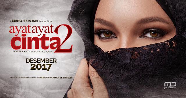 Poster Ayat-Ayat Cinta 2, filem Indonesia, base on novel karya Habbiburrahman El-Shirazy