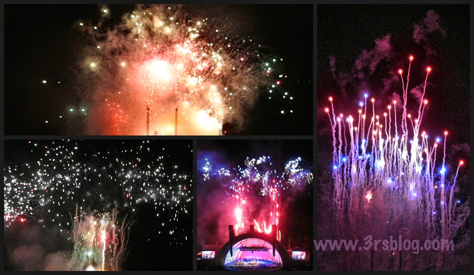 July 4th 2014 fireworks collage Hollywood Bowl The 3 R's Blog