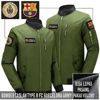 Jual Jaket Bomber Bola Barcelona