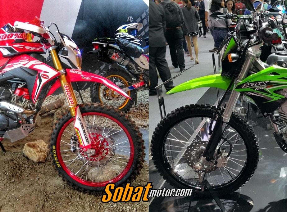 Berikut beberapa perbandingan antara All New Honda CRF150L dan Kawasaki KLX150BF, hayo pilih yang mana ?