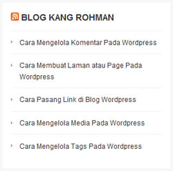 widget RSS wordpress