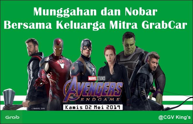Munggahan dan Nobar Avenger Endgame Bersama Keluarga Mitra GrabCar