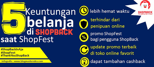 5 Keuntungan Belanja di ShopBack Saat ShopFest - Blog Mas Hendra