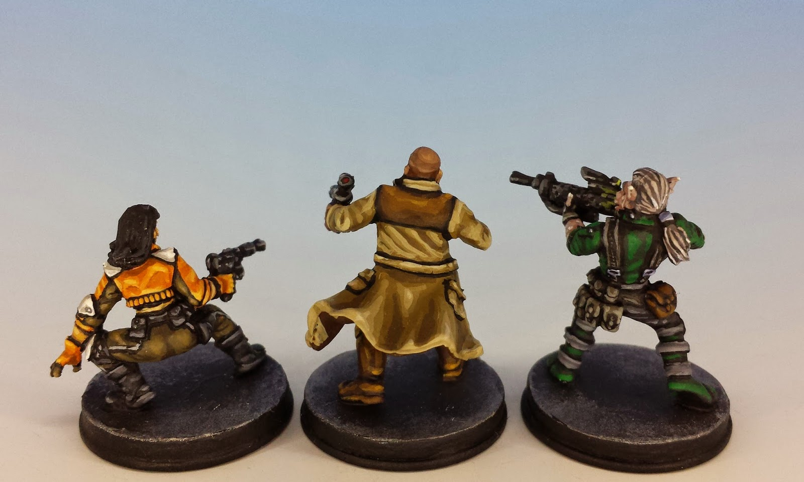 Jyn, Gideon and Mak, Fantasy Flight Games (2014, sculpted by Benjamin Maillet, painted by M. Sullivan)