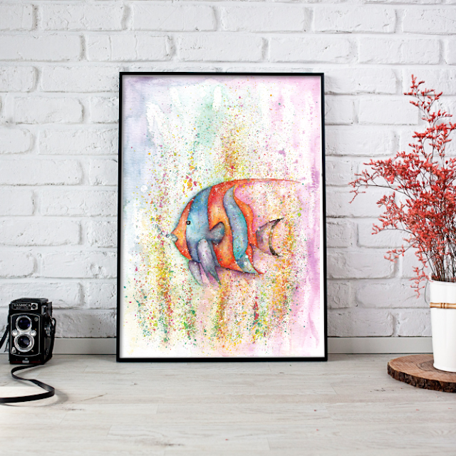 Fish Watercolor Painting
