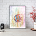 Watercolor Fish Art Print for Home Decor