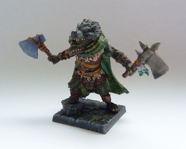 Thrundak Skullsplitter - Orc Warlord - Warlord of Galahir expansion for Mantic's Dungeon Saga.