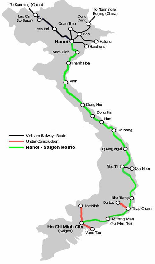 Sharing Pengalaman Naik Kereta Api Dari Stasiun Hanoi {Ga Hanoi} Menuju Ke Stasiun Saigon {Ga Saigon} Ho Chi Minh City Vietnam