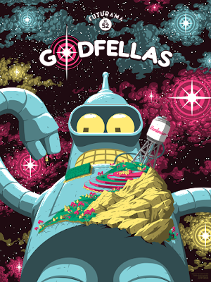"Futurama ""Godfellas"" Screen Print by Florey x Bottleneck Gallery"
