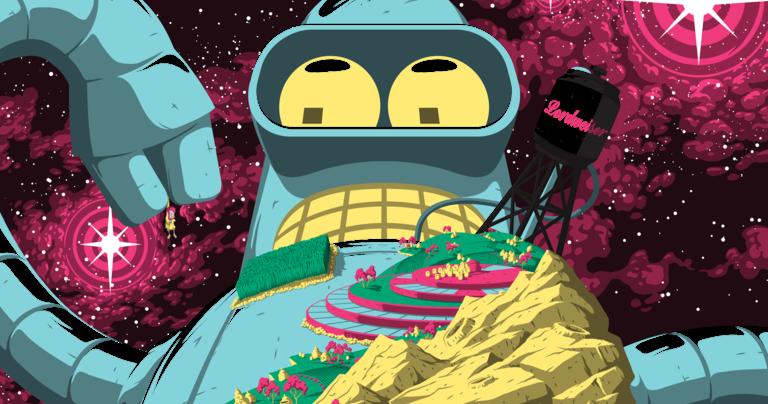 The Blot Says Futurama Godfellas Screen Print By Florey X Bottleneck Gallery