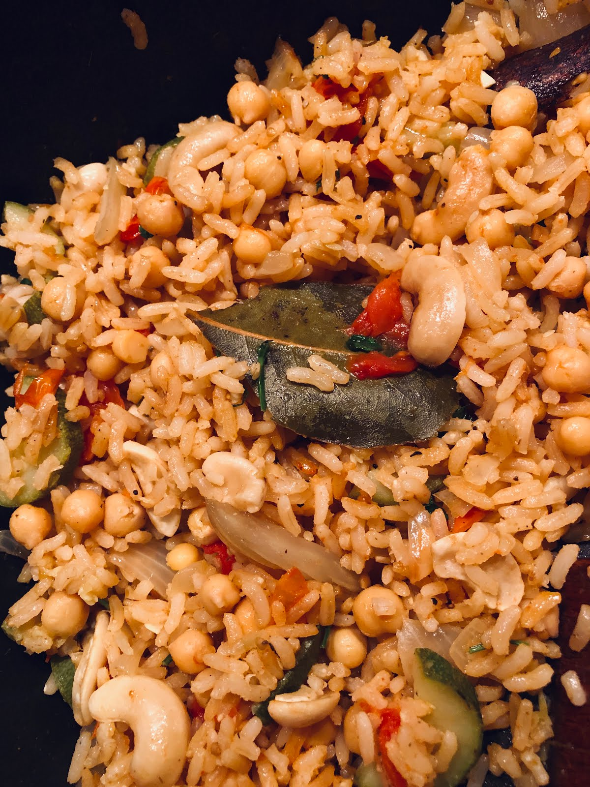 Middle Eastern Inspired Chickpea Pilaf