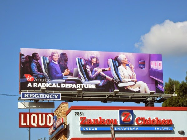 Virgin America A Radical Departure billboard