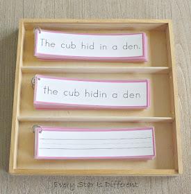 Beginning Montessori-inspired Sentence Challenges