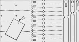 Schlaufenetiketten für Laserdrucker