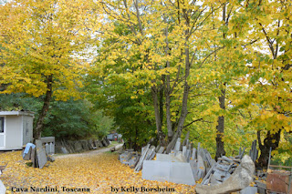Autumn at Cava Nardini Stone quarry in Vellano Tuscany Italy