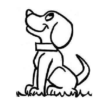 (Yazdırılabilir boyama sayfası!) Okul öncesi Köpek Boyama Sayfası