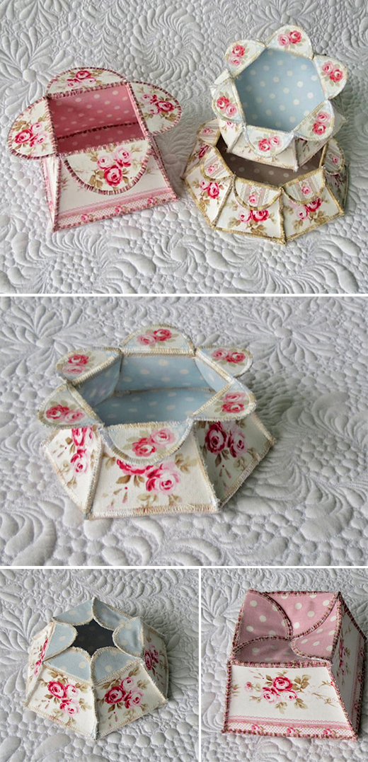 Quick and Easy Flower Boxes Gifts by Geta Grama of Getas Quilting Studio