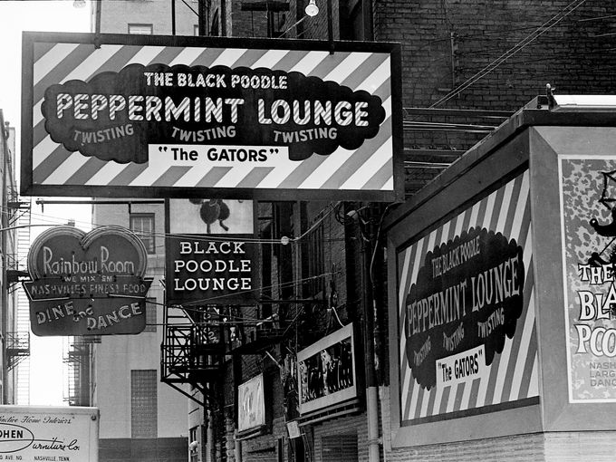No Such Thing As Was Printers Alley In Lurid Bw