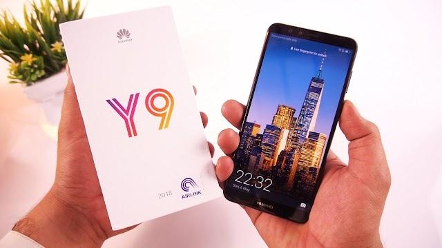 مراجعة وفتح علبة هاتف Huawei Y9 2018