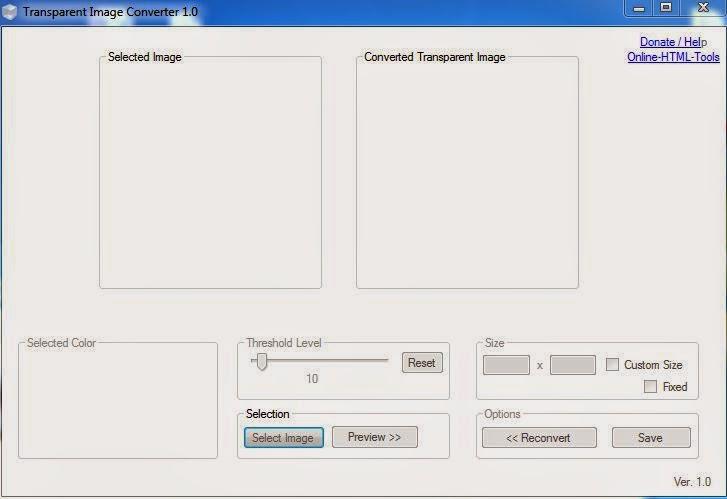 Transparent Image converter 1.0
