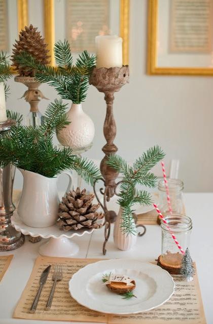 de haber sido a mesa sentada sta decoracin de mesa rstica a base de elementos naturales hubiera sido una gran fuente de inspiracin