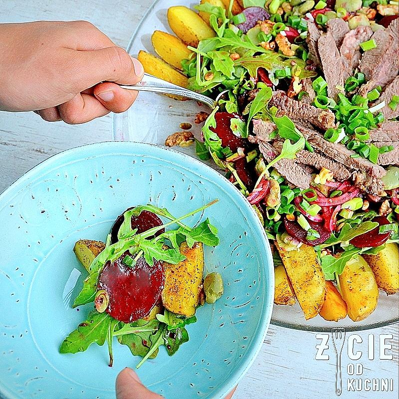 stek stestek sokossstek sokolow, sokolow, jak przygotowac stek, jak usmazyc stek, jak grillowac stek, salatka ze stekiem, salatka z burakami, zycie od kuchni, pyszna salatka