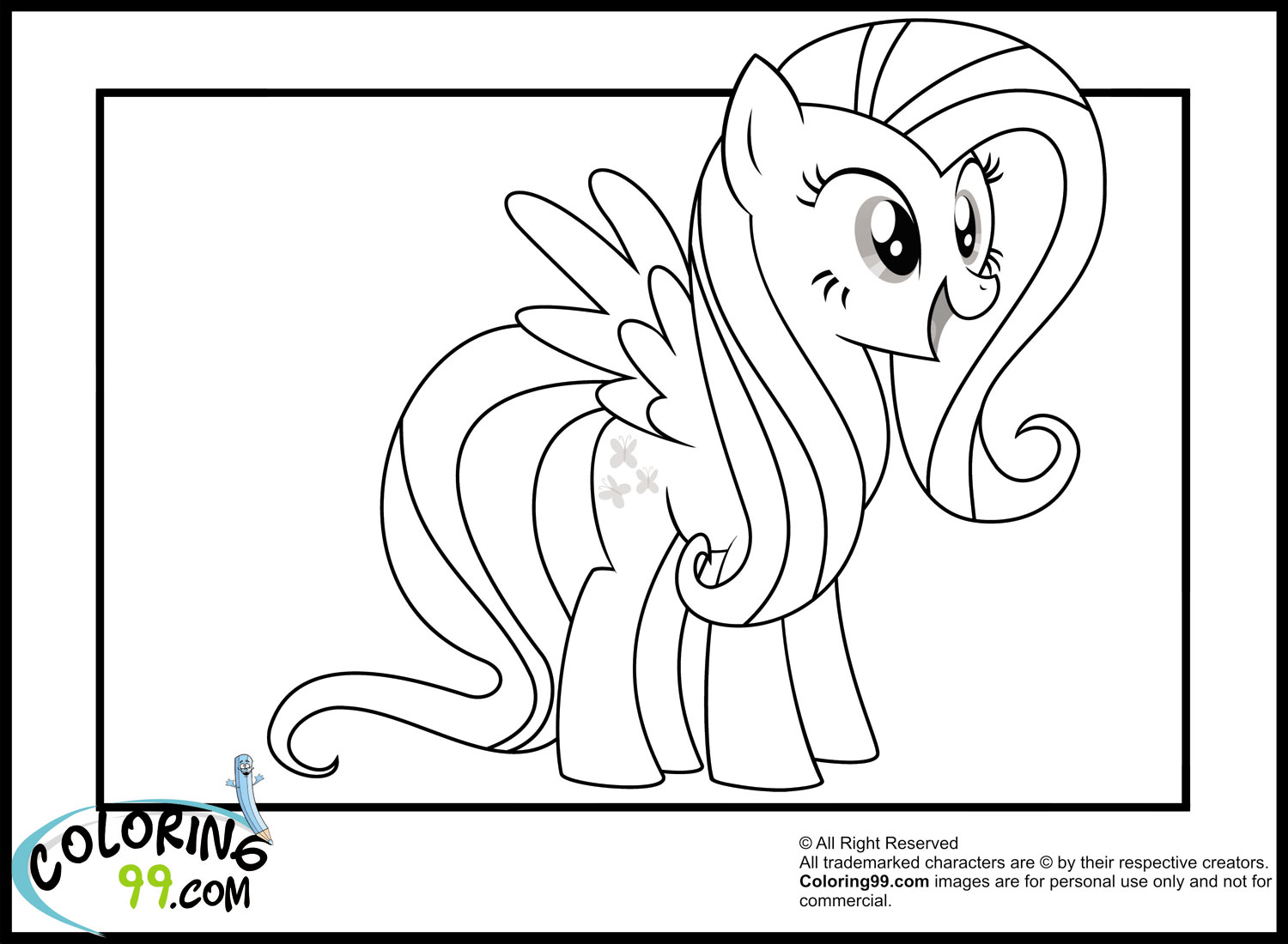 My Little Pony Fluttershy Coloring Pages | Minister Coloring